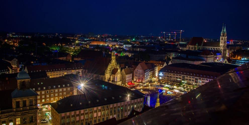 Ausblick vom Turm der Sebalduskirche Nürnberg