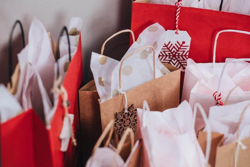 Einkaufstaschen-Winter