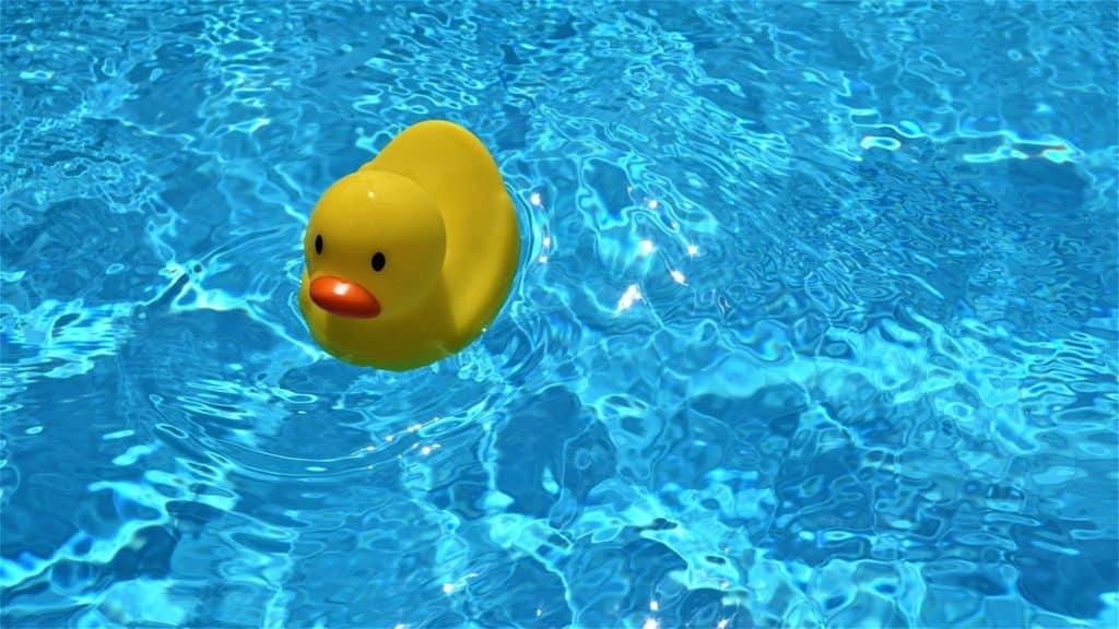Badeente im Pool