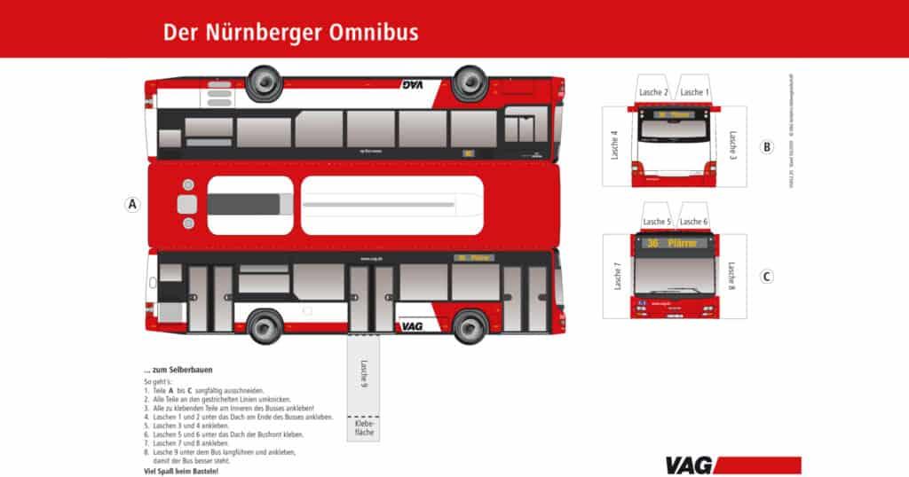 Bastelbogen Bus