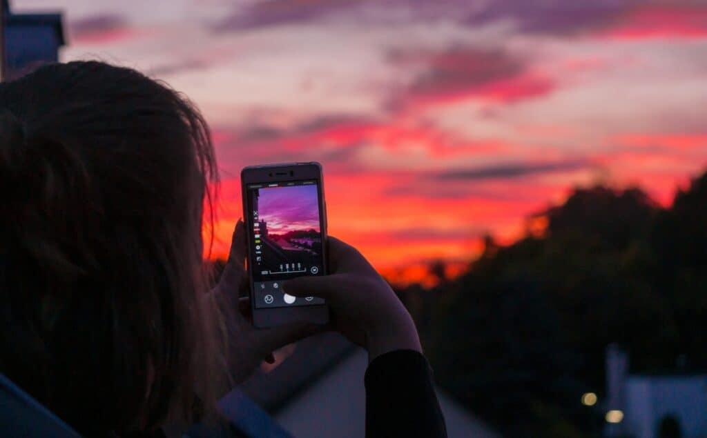 Person_Sonnenuntergang