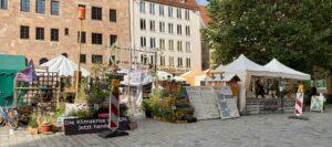 Das Nürnberger Klimacamp am Sebalder Platz