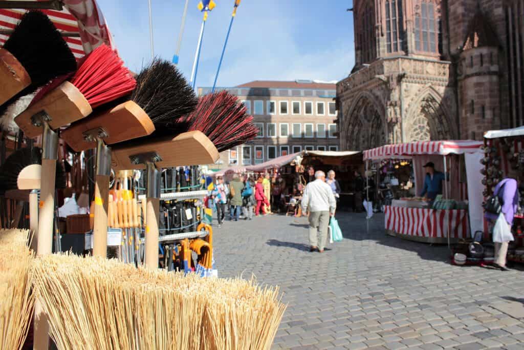 Eindrücke vom Herbstmarkt auf dem Nürnberger Hauptmarkt
